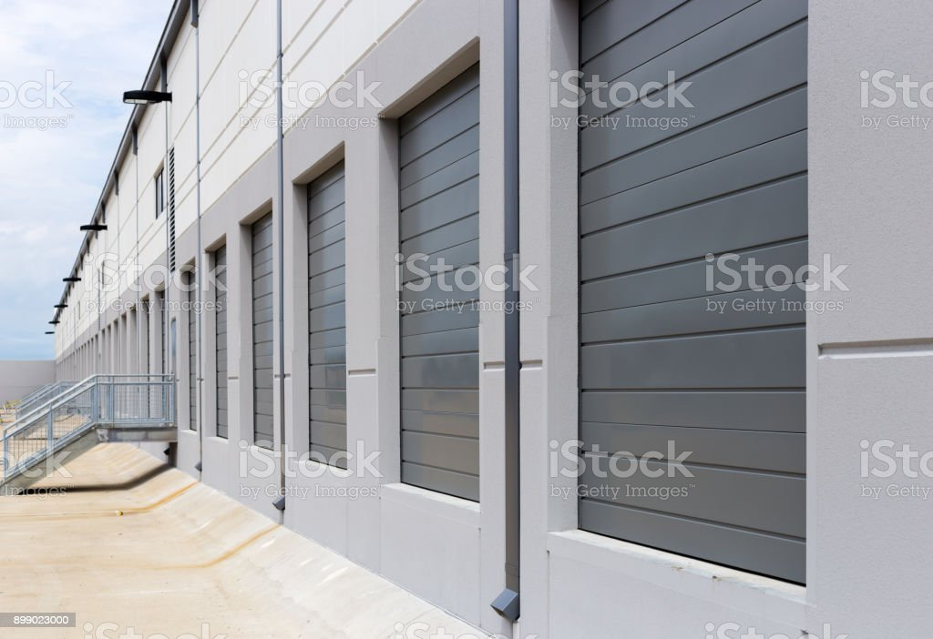Warehouse loading dock sliding doors royalty-free stock photo & Warehouse Loading Dock Sliding Doors Stock Photo u0026 More Pictures of ...