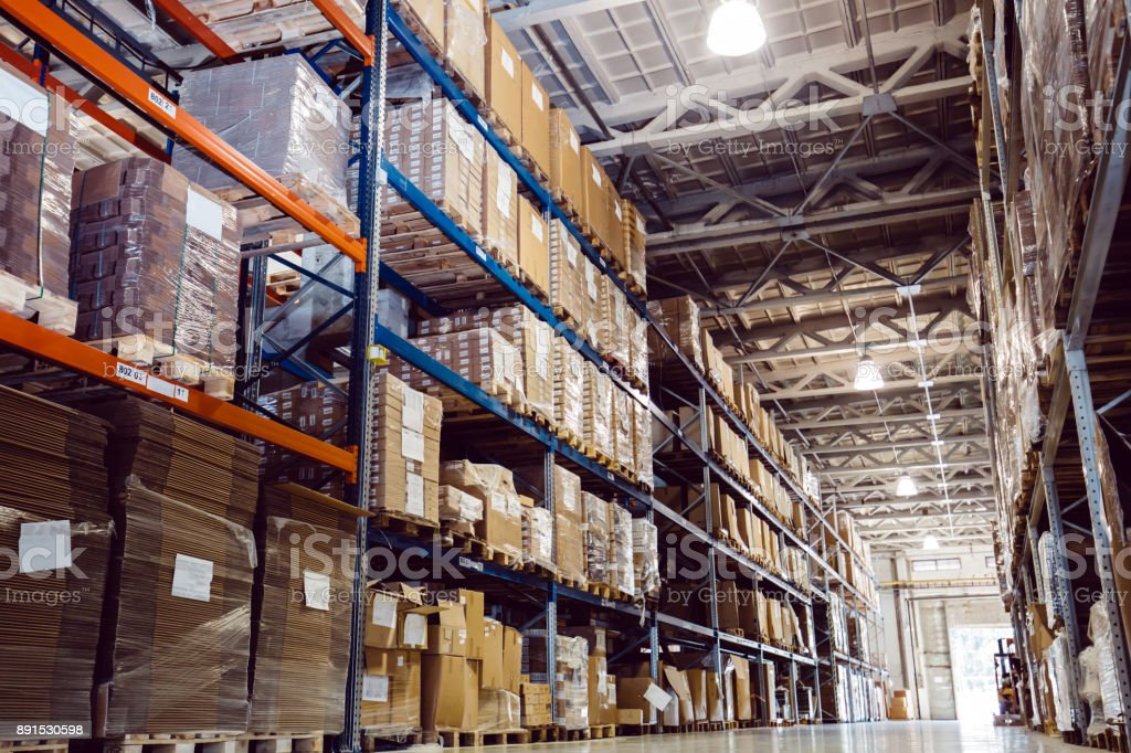 Warehouse logistics is important stock photo