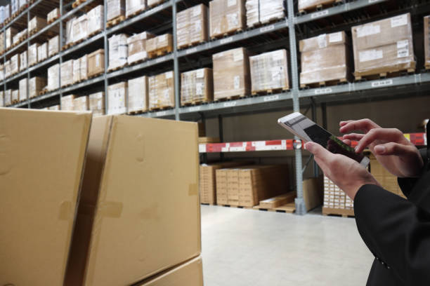 warehouse management - checklist stock photos and pictures