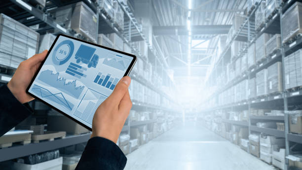 Warehouse manager Warehouse manager with digital tablet digitized stock pictures, royalty-free photos & images