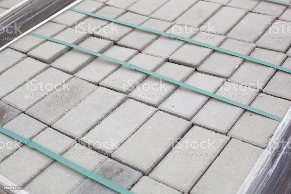 Warehouse Of Building Tiles Stock Photo - Download Image Now - iStock