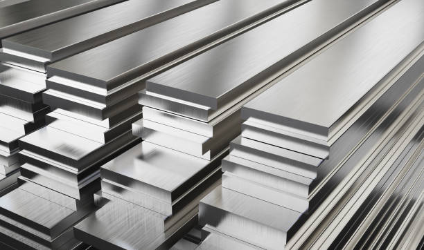Warehouse of steel plates. Rolled metal products. Warehouse of steel plates. Rolled metal products. 3d illustration. anode stock pictures, royalty-free photos & images
