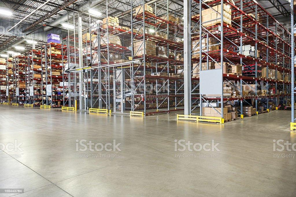 Warehouse racking stock photo