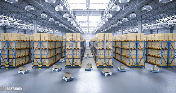 istock warehouse robot in factory 1139373969
