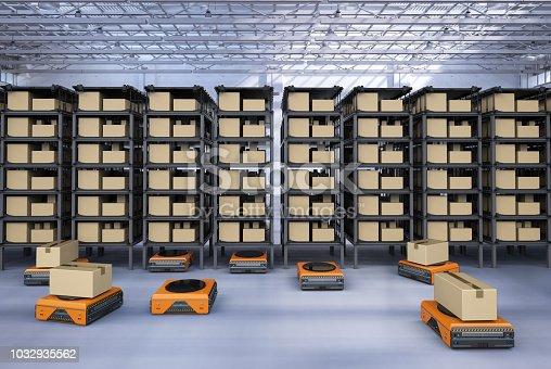 istock warehouse robot working 1032935562