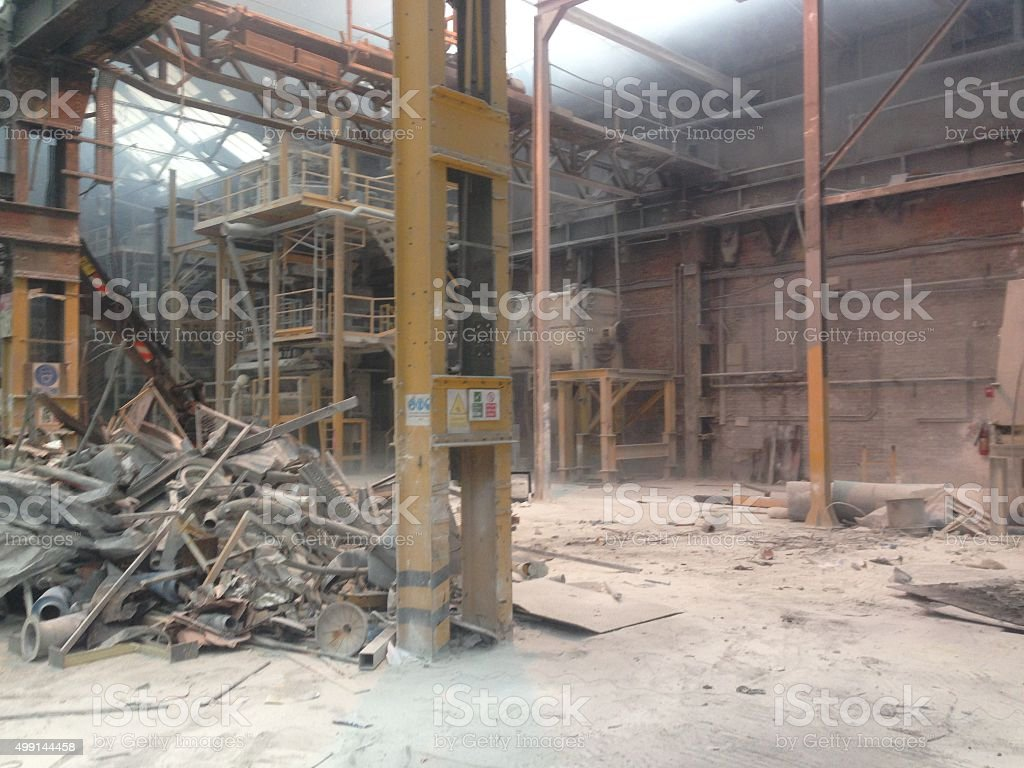 warehouse scrap stock photo
