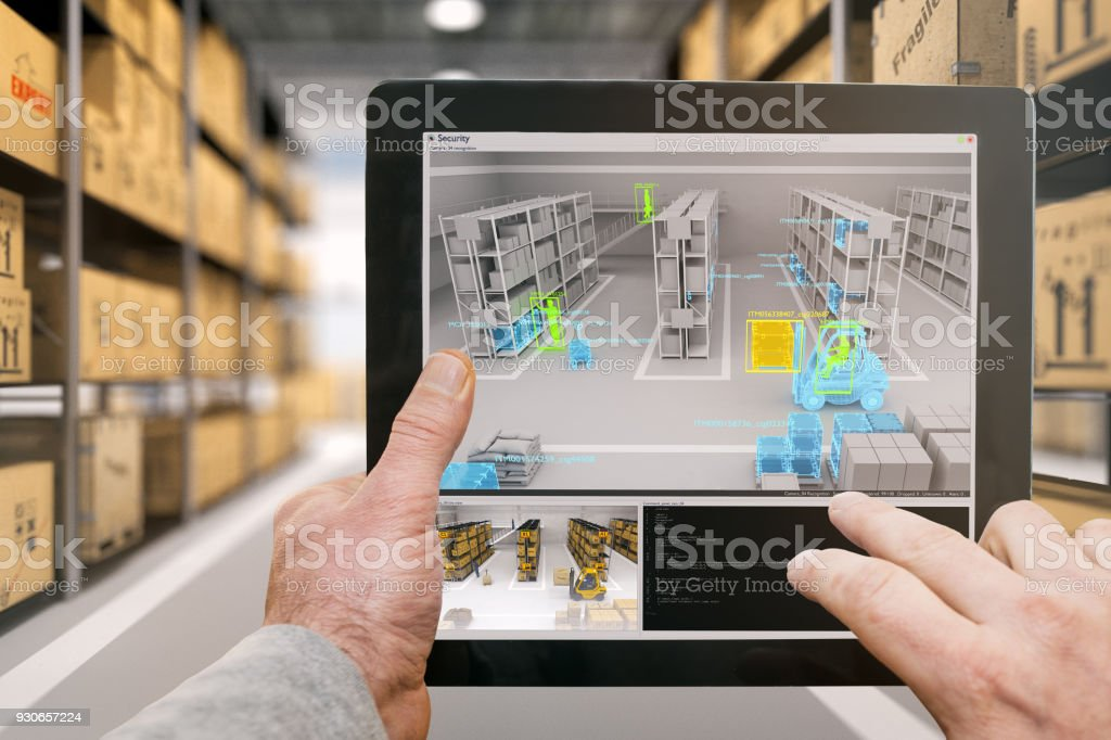 Warehouse security stock photo