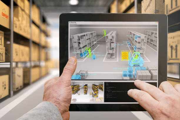 warehouse security - augmented reality stock photos and pictures