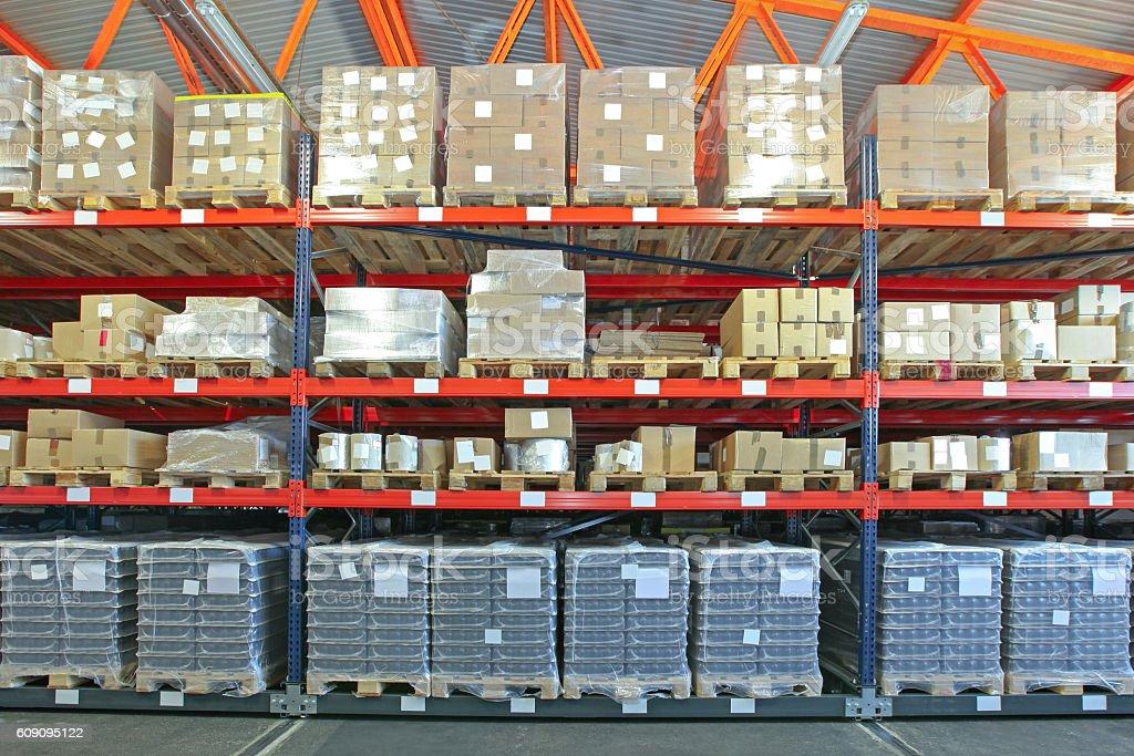 Warehouse Shelving System stock photo