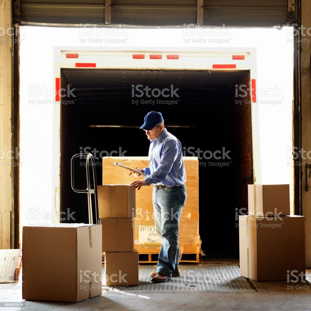 Warehouse Shipment stock photo