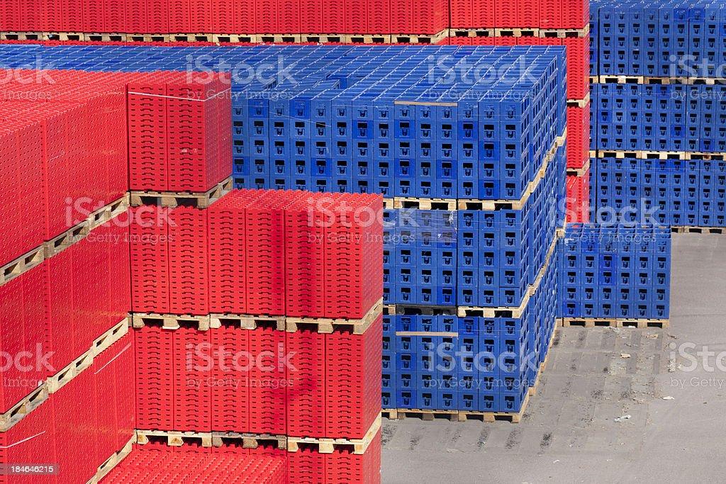 Warehouse stockpile stock photo