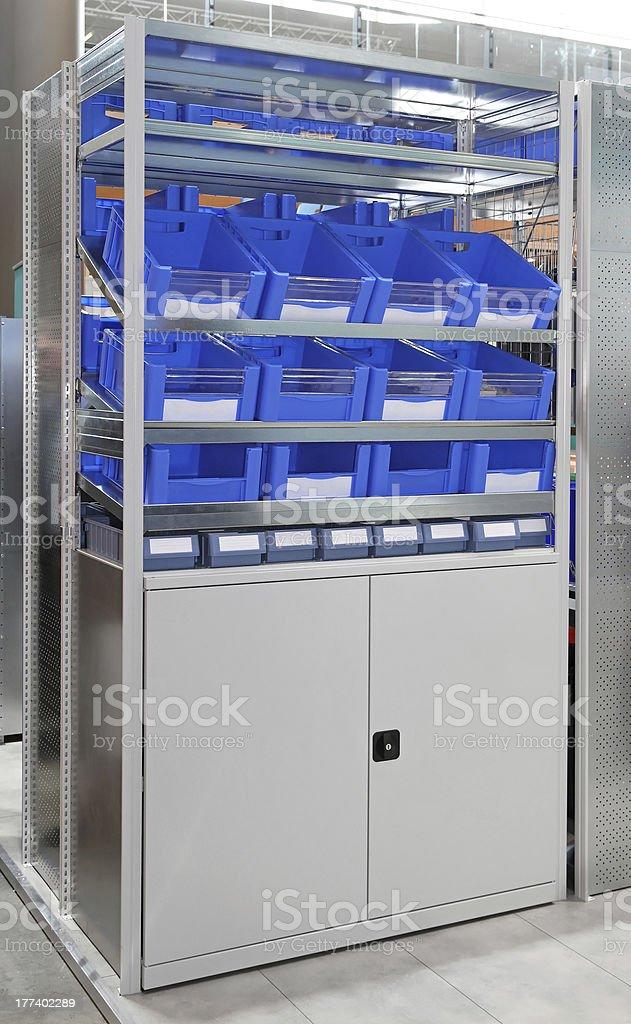 Warehouse storage shelf stock photo