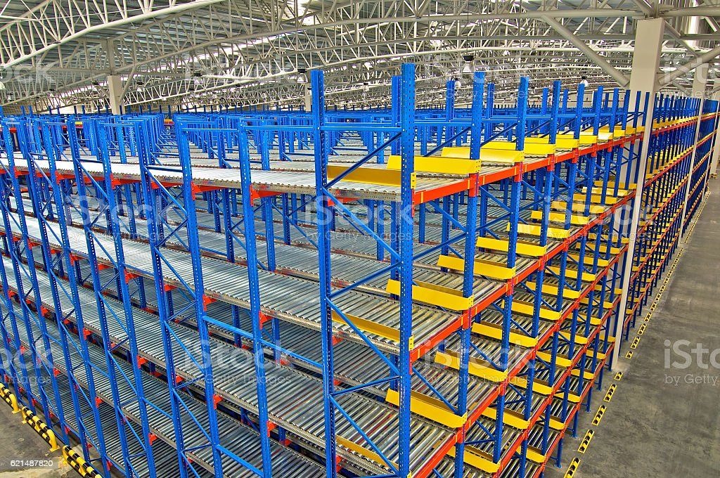 Warehouse storage shelving racking systems photo libre de droits