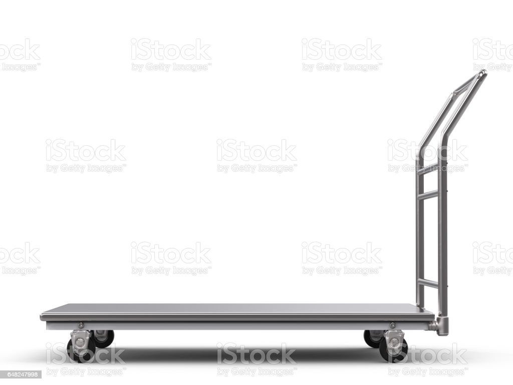 warehouse trolley or platform trolley stock photo