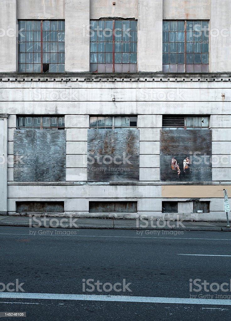 warehouse waiting for renewal - reuse royalty-free stock photo