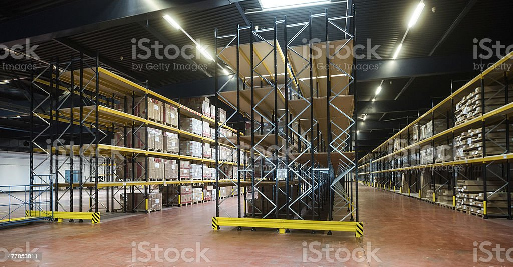 warehouse - Lagerhalle stock photo