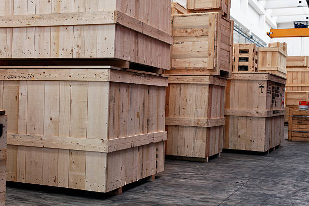 Warehouse with Crate. Color Image stock photo