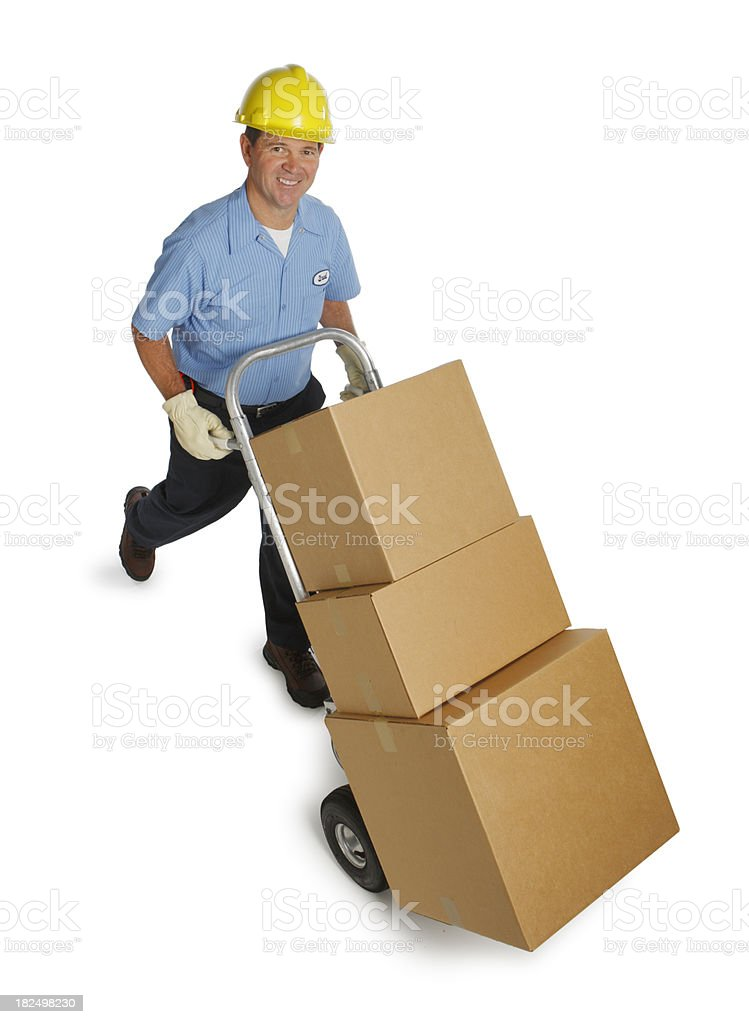 Warehouse Worker royalty-free stock photo