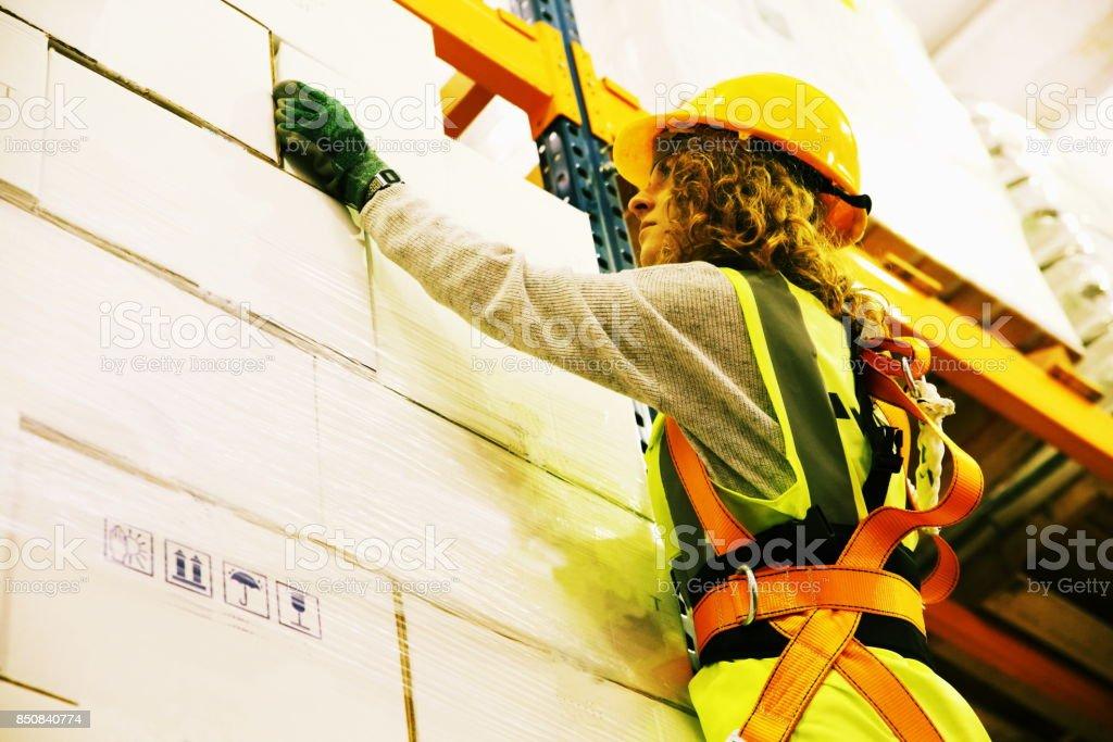 Warehouse worker stock photo