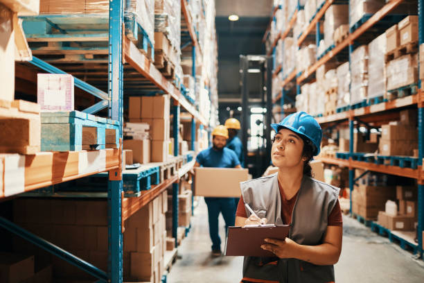 Warehouse Workers stock photo
