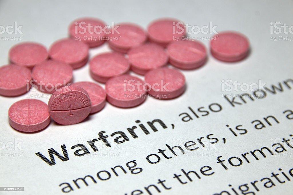 Warfarin Medication stock photo