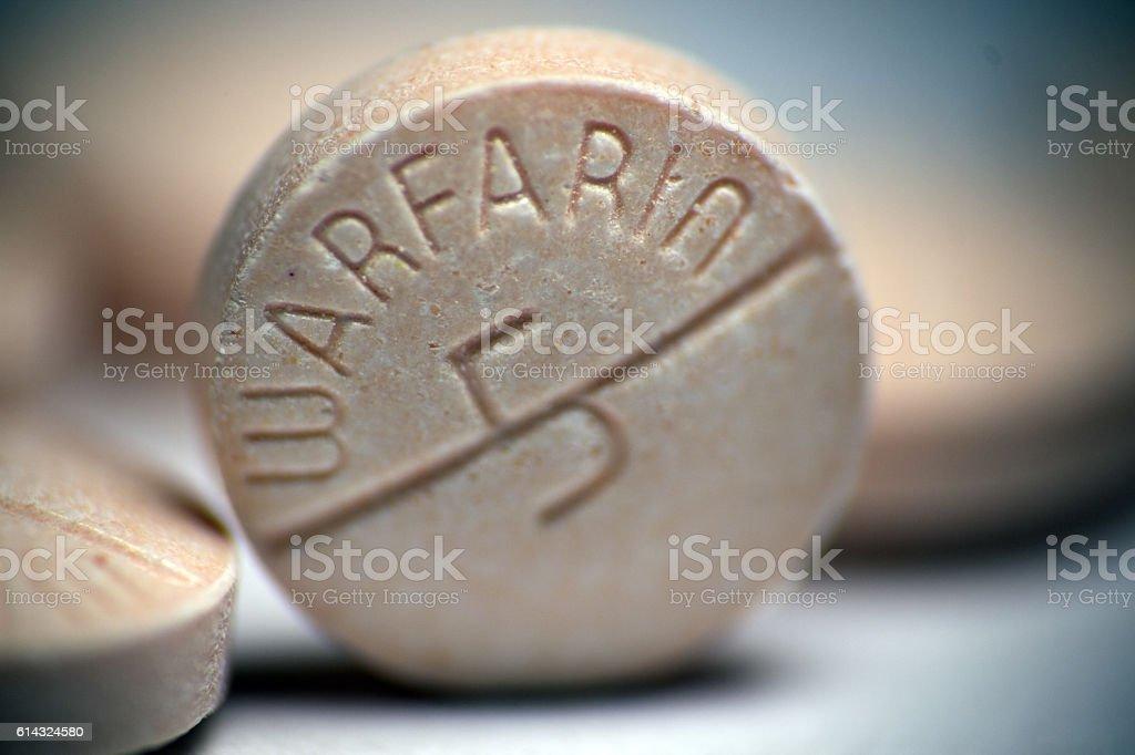 Warfarin Pill Closeup stock photo