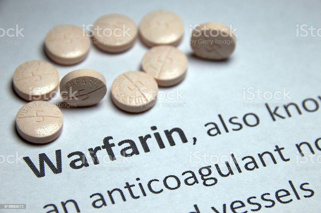 Warfarin Pills stock photo