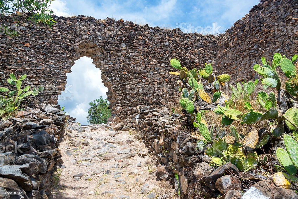 Wari Ruins in Peru stock photo
