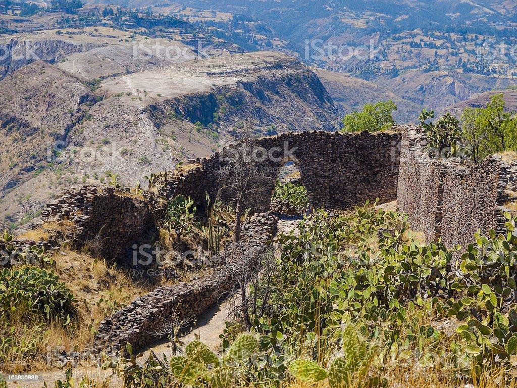 Wari ruins near Ayacucho, Peru stock photo