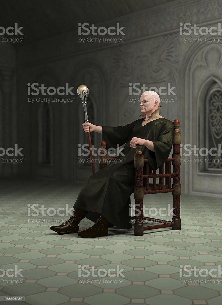 Warlock assis dans son Throneroom - Photo