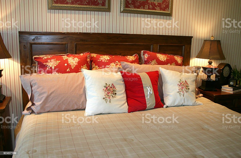 Warm and Cozy Bedroom royalty-free stock photo