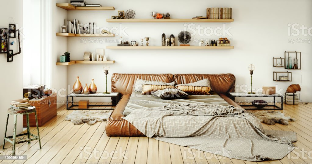 Warm And Cozy Home Interior Stock Photo - Download Image ...
