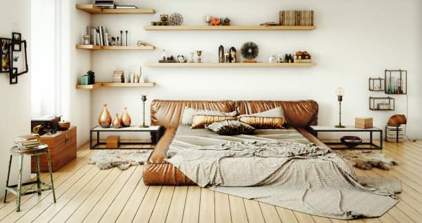 warme und gemütliche wohnlandschaft - shabby deko stock-fotos und bilder