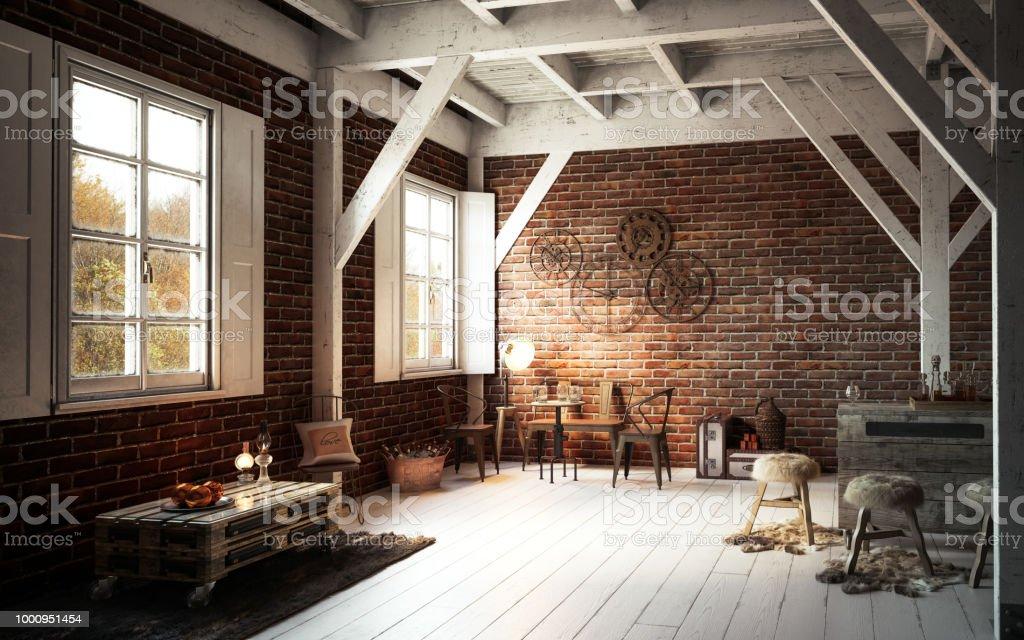 Top Warm Und Gemütlich Rustikale Einrichtung Stockfoto und mehr Bilder LY41