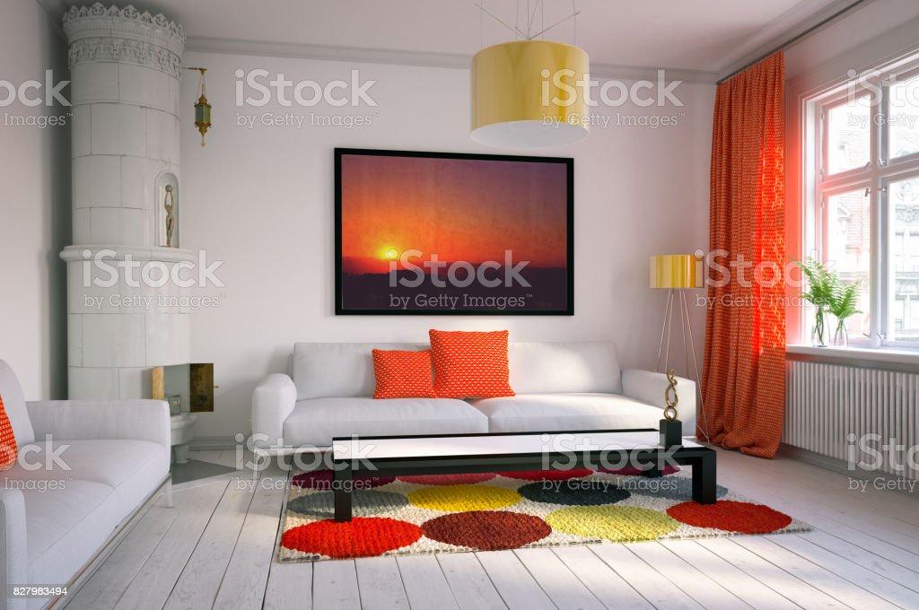 Photo Libre De Droit De Chaleureuse Et Confortable Salon