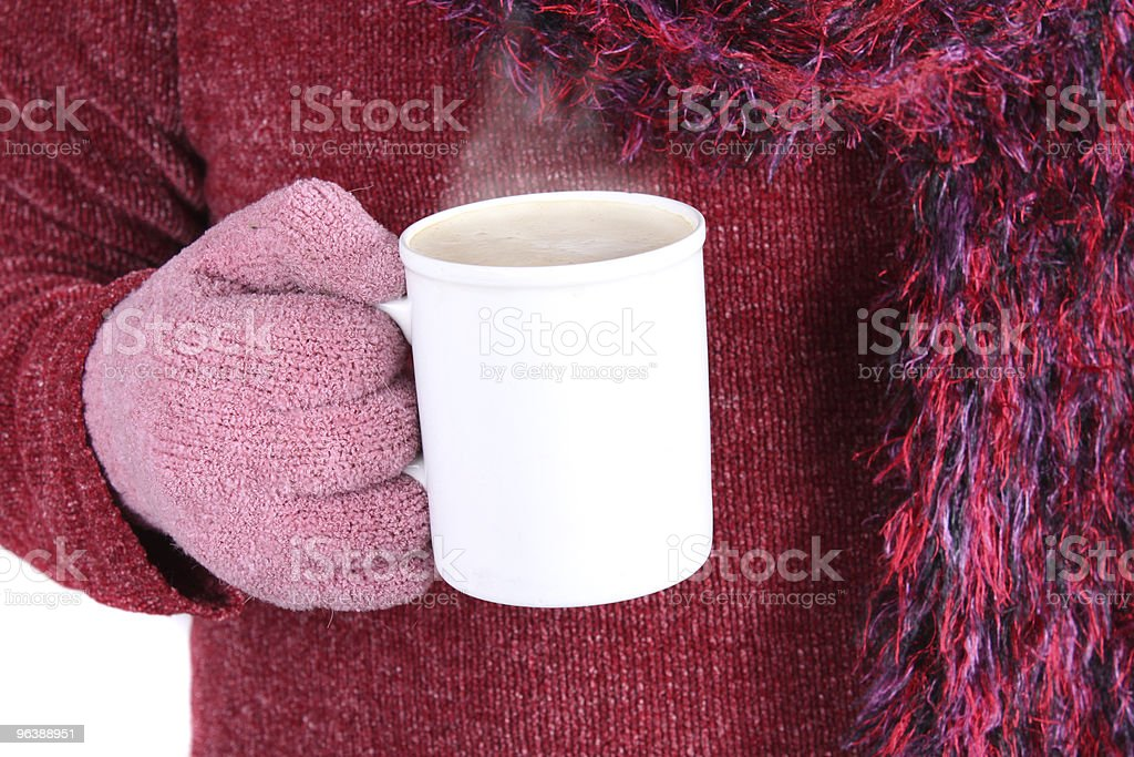 Warm beverage in Winter - Royalty-free Cappuccino Stock Photo