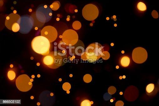 Warm Bokeh In Orange Colors – Defocused Lights