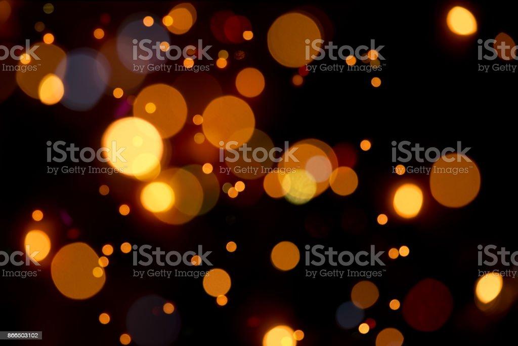 Warmen Bokeh In Orange Farben – defokussierten Lichter – Foto