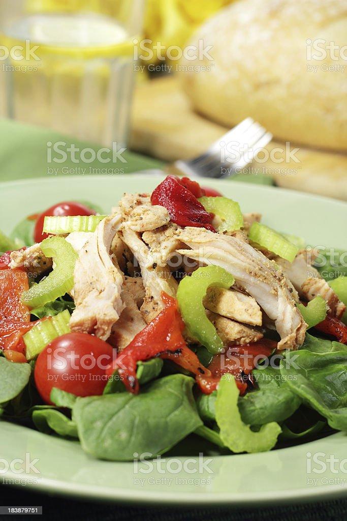 Warm chicken salad royalty-free stock photo