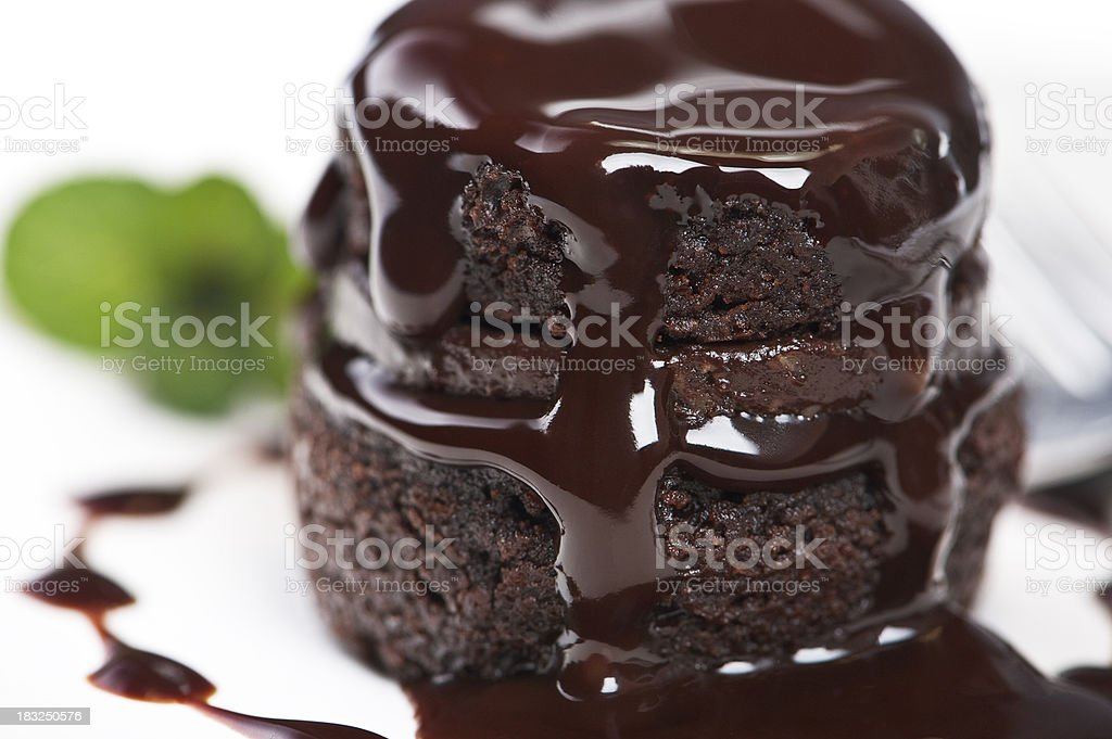 Warm Chocolate Cake royalty-free stock photo