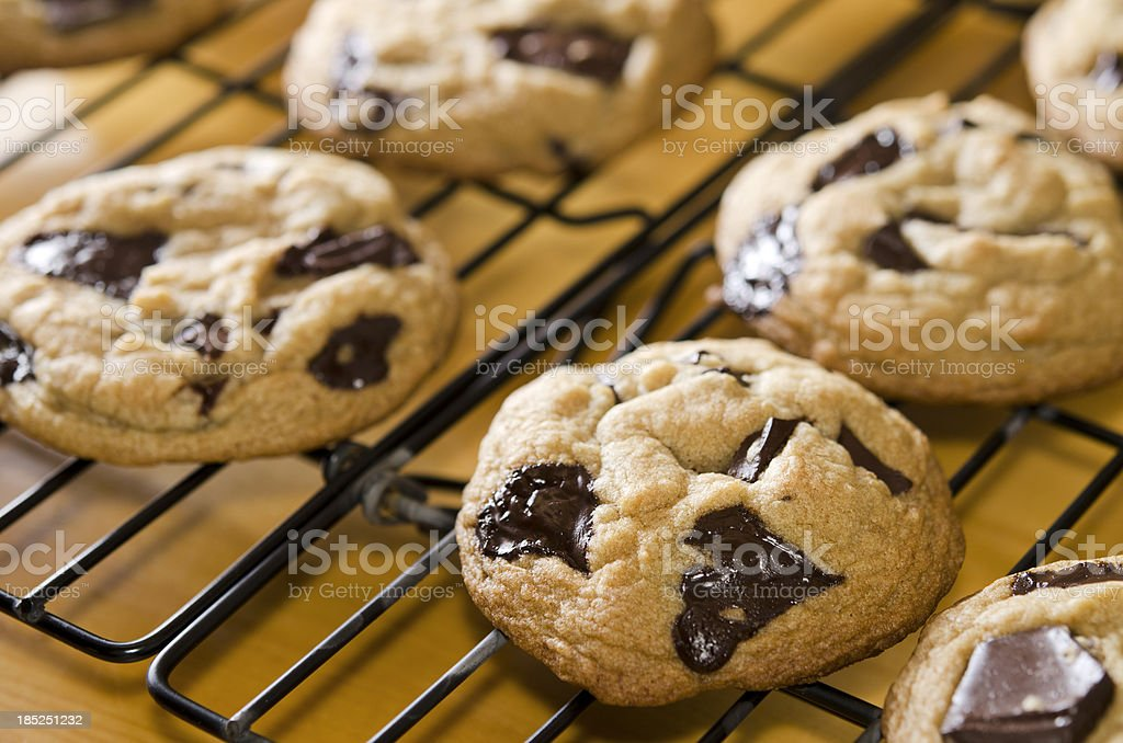 Warm Chocolate Chunk Cookies royalty-free stock photo