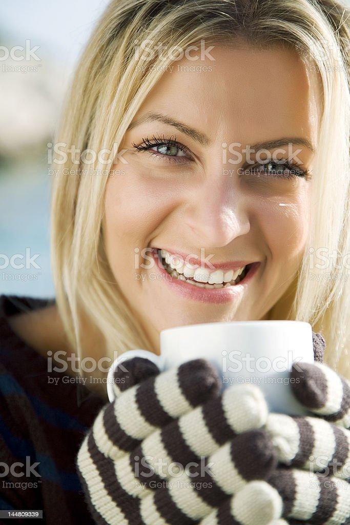 warm coffee or tea royalty-free stock photo