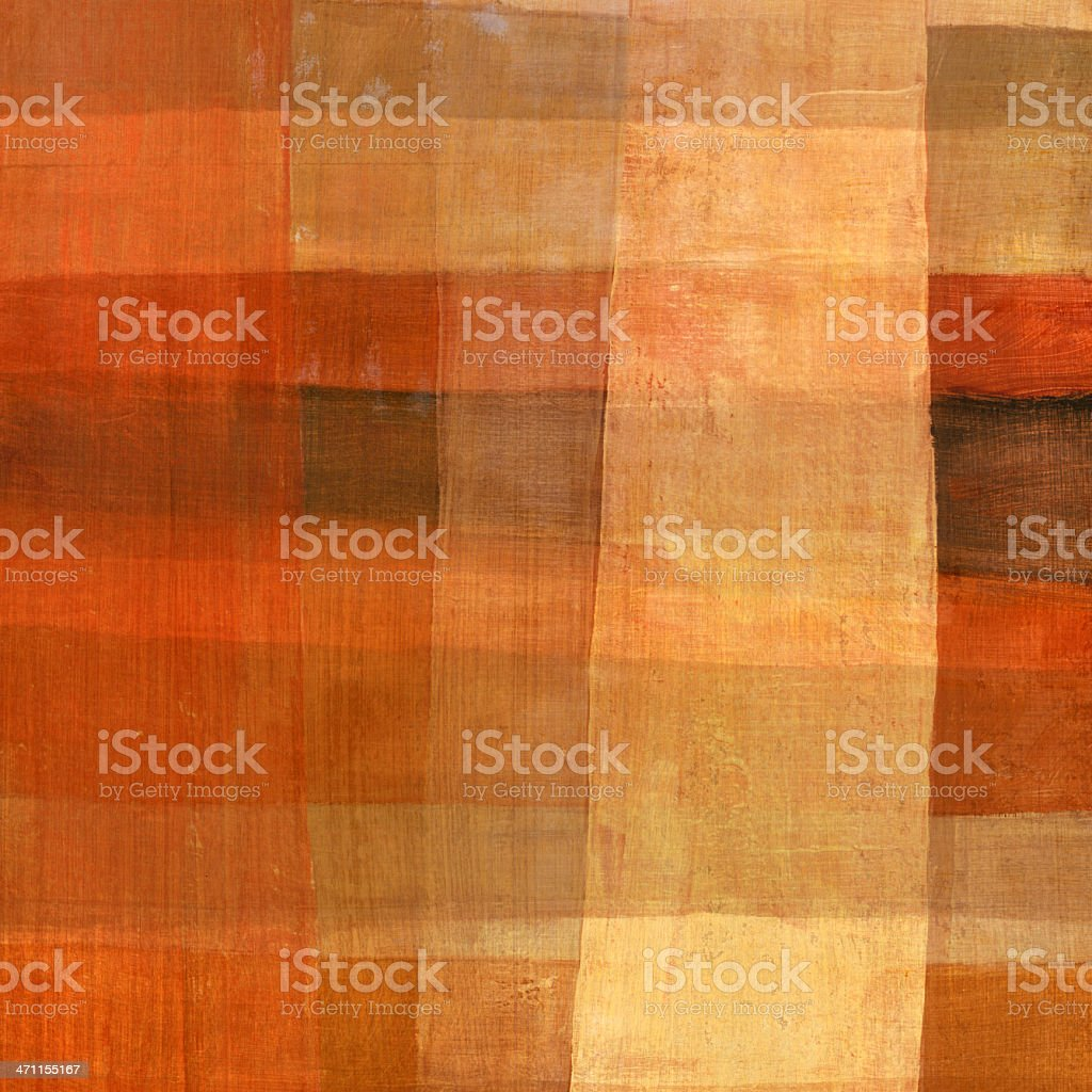 Warm Colored Abstract Painting royalty-free stock photo