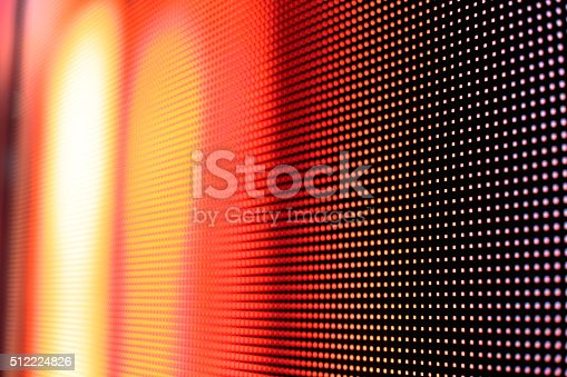 istock Warm colored LED smd wall 512224826