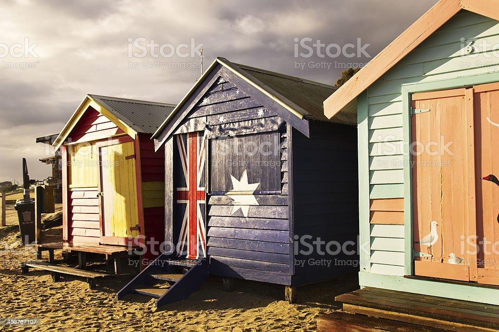 Warm dawn at the beach royalty-free stock photo