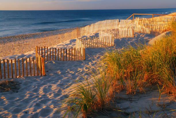 Warmes Frühlicht an der Küste – Foto