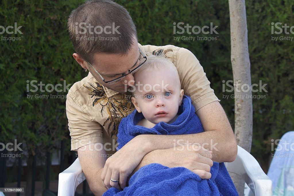 Warm Father Cold Son royalty-free stock photo