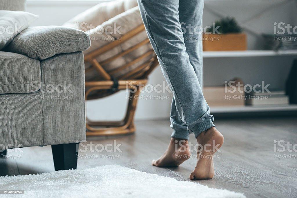 Warm floor concept. – Foto