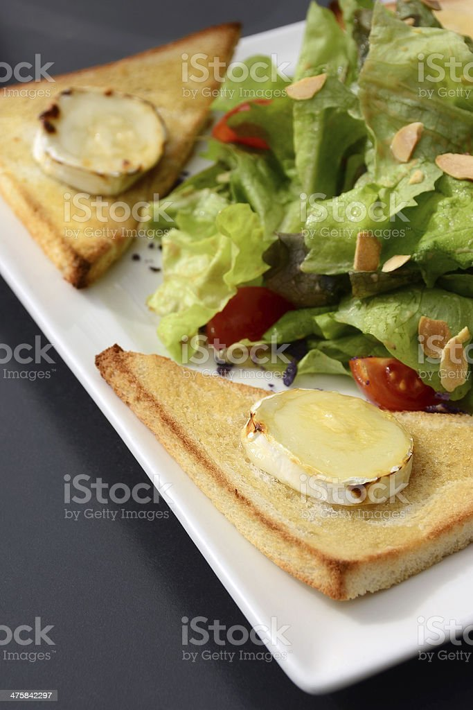 Warm Goat Cheese Salad royalty-free stock photo