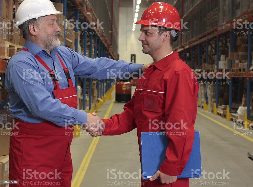 warm handshake royalty-free stock photo